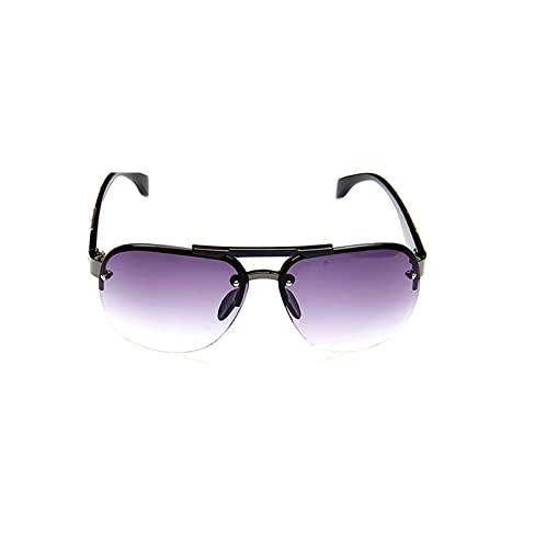 Clásico Vintage Gafas de Sol Hombre Conducir HD Big Frame Sun Glasses Mujeres UV400 al Aire Libre Gafas de Sol (Lenses Color : Purple)