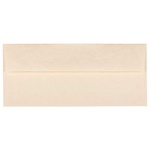 JAM PAPER #10 Business Parchment Envelopes - 4 1/8 x 9 1/2 - Natural Recycled - 25/Pack