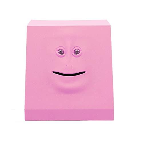 Money Boxes Human Face Money Bank, Plastic / ABS Piggy Bank Creatividad Eat Money Huchas,Ornamentos interesantes Gift Coin Bank Hucha (Color: Pink, Size: A)