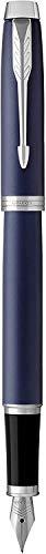 PARKER IM, pluma estilográfica azul mate, con plumín mediano y recambio de tinta azul (1931654)