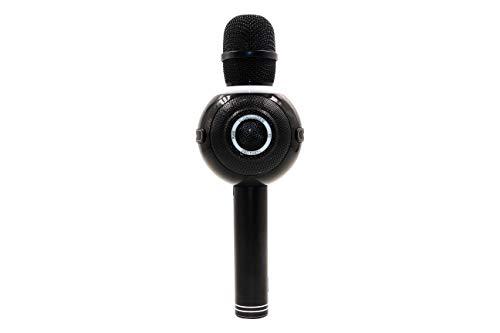 Icon Singer Pro Party draadloze karaoke-microfoon met Bluetooth, sound-effecten, kleurrijke LED-lampen, compatibel met Android en iOS, inclusief accu (meer dan 8 uur looptijd)