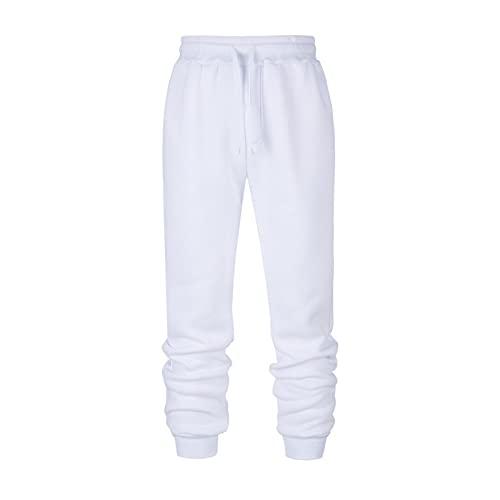 Pantalones Casuales para Hombre, Pantalones Deportivos Casuales de Moda para Correr, Pantalones Deportivos Sencillos con cordón de Color sólido, Cintura elástica, cómodos Pantalones Deportivos M
