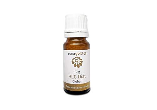 Senagold HCG DIÄT Globuli - günstige Vorratsgröße - für Ihre HCG Diät - lactosefrei, hormonfrei - Deutsche Herstellung … (10 Gramm)