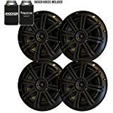 KICKER Black OEM Replacement Marine 6.5' 4 Ohm Coaxial Speaker Bundle - 4 Speakers