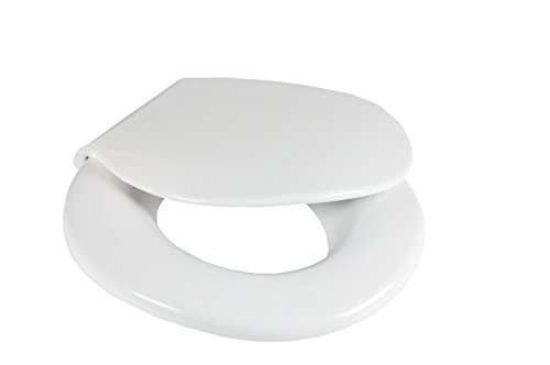 Big John Toilet Seat 2445646-1W Closed Front with Cover Oversize Toilet Seat, White