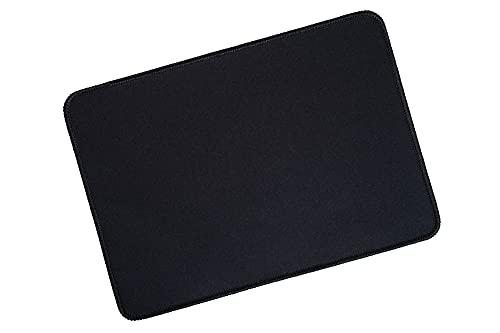 GOMIN Gaming Mauspad - 280 x 200 mm Mousepad rutschfest – Vernähte Kanten - verbessert Geschwindigkeit und Präzision, Schreibtischunterlage ideal für PC, Laptop, Homeoffice und Büro - schwarz