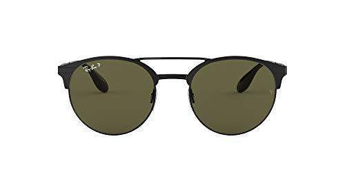 Ray-Ban Unisex-Erwachsene RB3545 Sonnenbrille, Schwarz (Schwarz/ grün polarisiert), 51