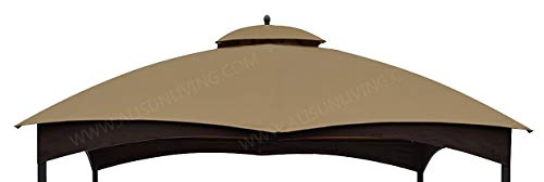 ALISUN Replacement Canopy Top for Lowe's 10' x 12' Gazebo #TPGAZ17-002C