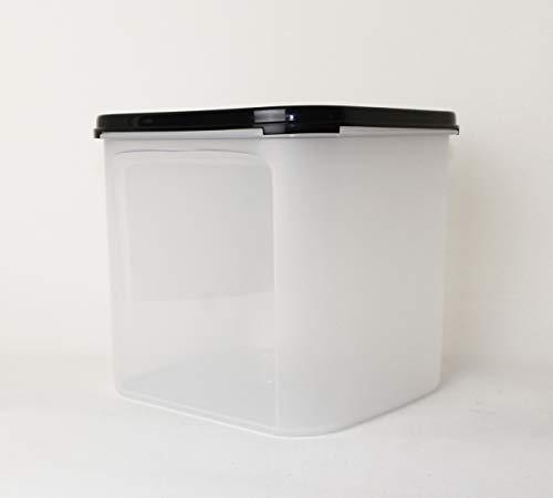 TW TUPPERWARE Eidgenosse quadratisch 4,0L Schwarz Vorratsbehälter + Mini Falt Sieb schwarz