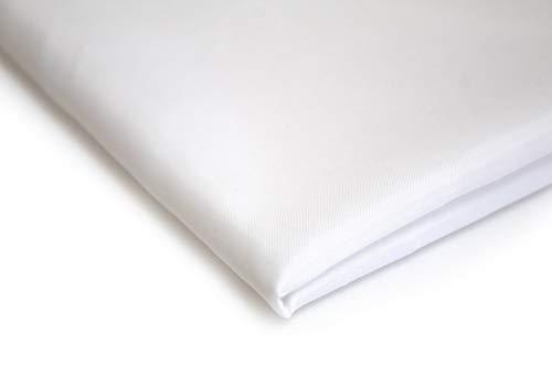 Futterstoff Polyester Leicht Halb Durchsichtig aus 50 x 150 cm (Weiß)
