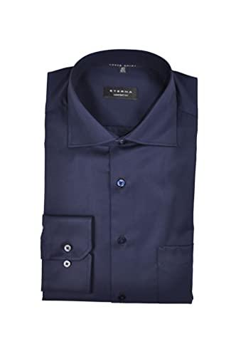 eterna Comfort Fit Hemd Langarm Blickdicht Brusttasche Nachtblau Größe 46