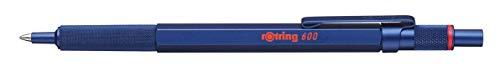 rOtring 600 Kugelschreiber, mittlere Spitze, Schwarze Tinte, Blauer Schaft, nachfüllbar