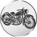 S.B.J - Sportland Pokal/Medaille embleem, motief oldtimer motorfiets, diameter 50 mm diameter