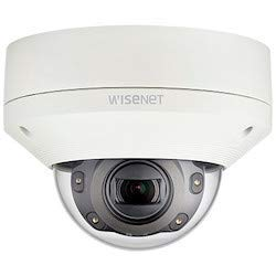 Hanwha Techwin XNV-6081R 2MP Vandal-Resistant Outdoor IR Network Dome Camera, 2.8~12mm (4.3X) Motorized varifocal Lens, 60fps@All Resolutions (H.265/H.264), Smart Shock,Tamper,Motion Detection