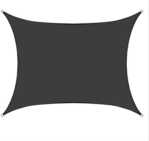 JLTX - Tenda a vela rettangolare in tela con pergola, anti-UV, impermeabile, per la piscina all'aperto, protezione solare
