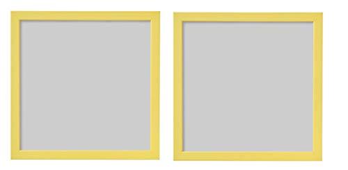 Digital Shoppy IKEA Photo Frame, 30x30 cm, (Yellow) - Pack of - 2