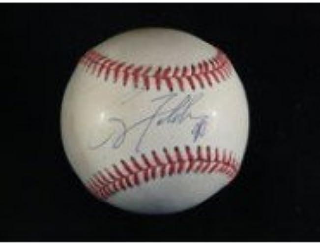 Signé FELDhomme, COREY Ligue nationale de baseball en bleu d'encre sur le Sweet Spot Autographe