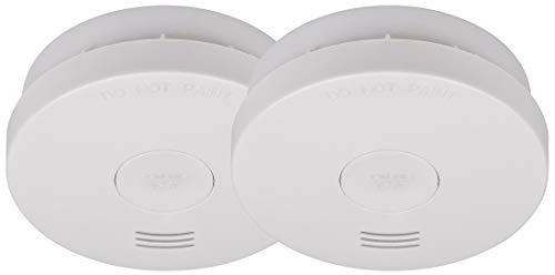 Brennenstuhl 1290050002 Rauchmelder Set, 2X RM L 3100 mit integrierter (10 Jahres Batterie, geprüft und Zertifiziert nach VDs DIN EN 14604) weiß