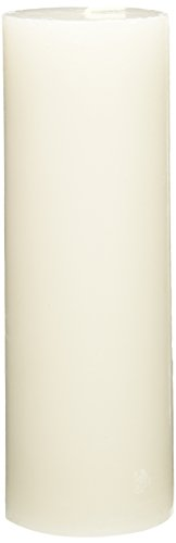Zest Candle Pillar Candles, 3 by 9-Inch, White Citronella