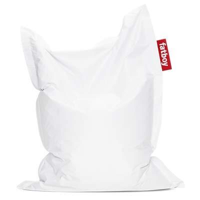 Fatboy® Original Sitzsack Junior | Klassisches Indoor Sitzkissen speziell für Kinder in Weiß | 130 x 100 cm