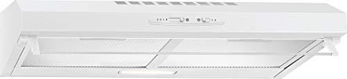 Bomann DU 623.3 Unterbau-Dunstabzugshaube, 60cm, Umluft- oder Abluftbetrieb, 3Leistungsstufen, abnehmbare, waschbare Aluminium-Dunstfilter, Weiß