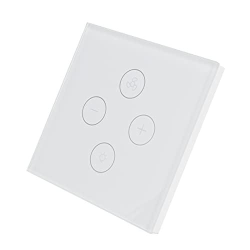 Interruptor de luz Multifuncional, Interruptor de Ventilador Interruptor de Ventilador de diseño Ajustable para Equipo doméstico