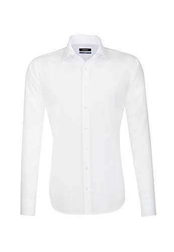 Seidensticker Herren Business Hemd Tailored Fit, Weiß (Weiß 1), 37