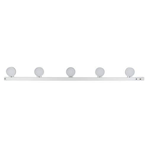 REV LightRacer 2414090510 - Lámpara LED para parte inferior de mobiliario (30.000 h, intensidad regulable), color plateado