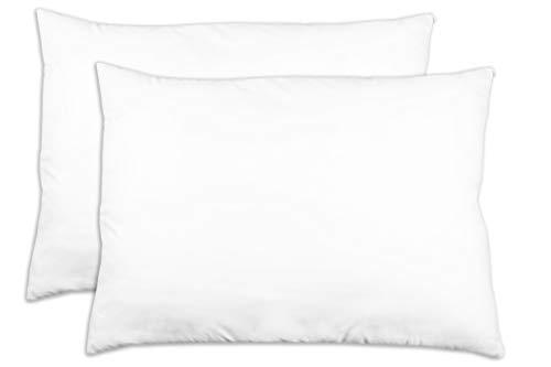 ZOLLNER 2er Set Kopfkissen, 60x80 cm, 100% Polyester, 730 g, weiß