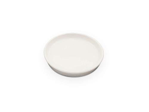 K&K Unterschale/Untersetzer Ø 16 cm rund für Blumentopf Venus II ohne und mit Henkel 19x15 cm - Farbe: weiß-matt aus Steinzeug (hochwertige Keramik)