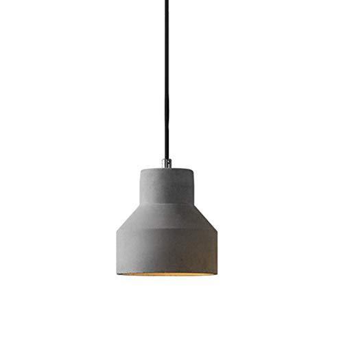 Lámpara colgante de cemento vintage, pantalla colgante de concreto moderno industrial en acabado gris Sencillez Minimalista 1 luz, accesorio de iluminación empotrado en el techo for Bar Loft Club