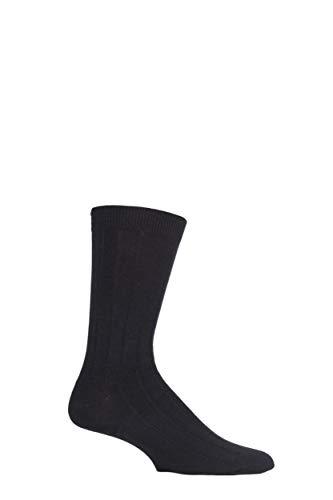 Herren 1 Paar Braintree Hanf Held Plain Hanf und Bio-Baumwolle Socken Schwarz One Size