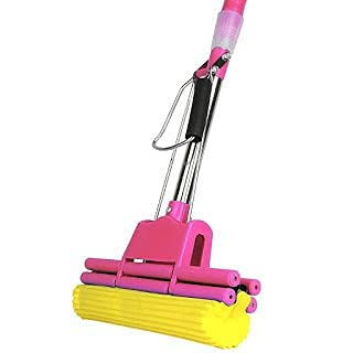 oxfo enterprise Easy to Clean mop Stainless Steel Telescopic Handle Absorbent Sponge Mop Home Floor Cleaning Tool(Multi Colour)