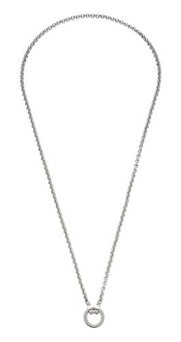 Jewels by Leonardo DARLIN'S Damen-Halskette Basic PEA, Edelstahl mit Maxi-Clip, Clip & Mix System, Länge 800 mm, 013564
