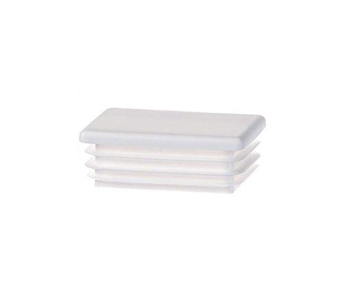10 pcs bouchon pour tube rectangulaire 25x15 gris plastique Capuchon Bouchons