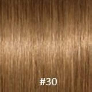 Virgin V-Tip Peruvian Kinky Curly Hair,#30 Light Auburn,8 Inch