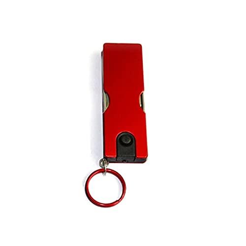QODU Al aire libre multifunción mini llavero cuchillo llevó la luz cortaúñas Earpick tijeras pinzas bolsillo Edc herramientas multi senderismo engranajes rojo