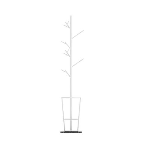 Garderobenständer Nordic kreative Branche Eisen Kleiderständer Marmor Base Coat Stand mit Regenschirm Regal Aufhänger Boden Home Storage Schlafzimmer Garderobenstange (Color : White Black)