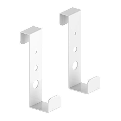 Set 2 Pezzi Porta asciugamano per Box Doccia – Gancio Appendi Asciugamano in Alluminio - Bianco