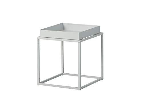 Inter Link Design Beistelltisch Industrial-Style Metall grau In & Outdoor geeignet