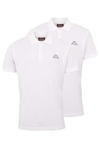 Kappa Herren Polo Shirt VENIST im 2er Pack | Polo-Hemd mit diskretem Logodruck und Kent Kragen | Basic Poloshirts für Männer | Kurzarm Poloshirt für Sport, Freizeit und Büro | Regular Fit | XXL