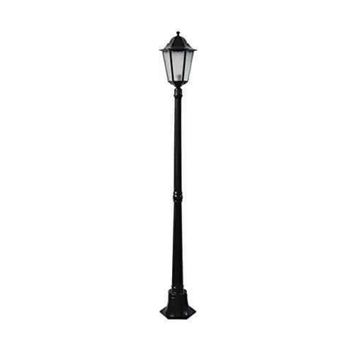 XLOO LED-Gartenlaterne,Kandelaber Aluguß Garten Laterne Außenleuchte Gartenleuchte Wegleuchte,Stehlampe in antikem Look, Aluguß in mit Klarglas-Scheiben