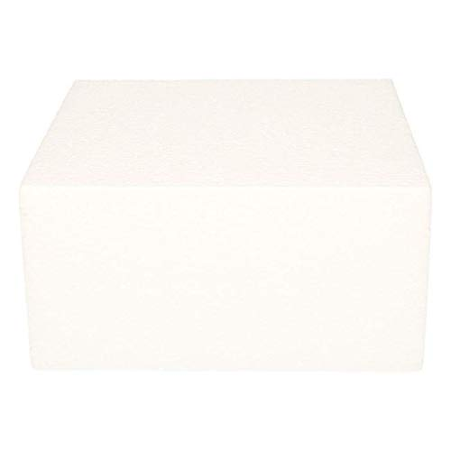 FunCakes FC420VK Cake Dummy-quadratische Styroportorte 20 x 20cm, 10cm hoch, Papier