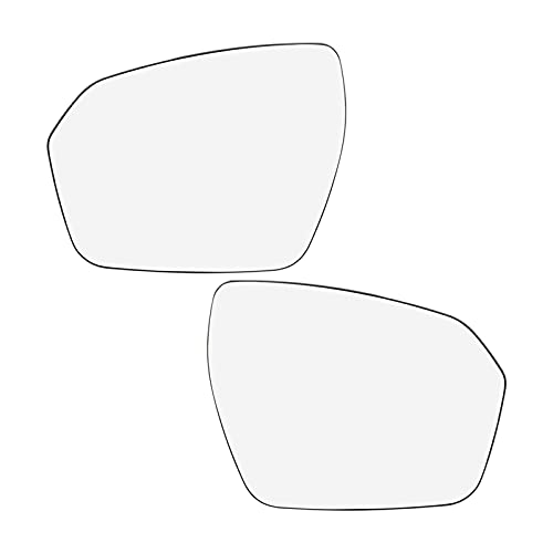 XiupzI Fit para Land Rover Range Rover Evoque izquierda derecha par espejo de vidrio climatizado con placa trasera lateral espejo retrovisor vidrio 2012 2013 2014 2015 2016 2017 Accesorios (1