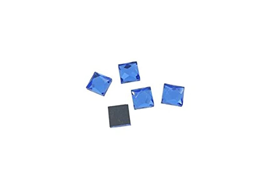 の前でプレーヤー前件SHAREKI 四角形 ガラスデコ ガラスストーン ブルー 正方形 ガラスタイル8mm×8mm