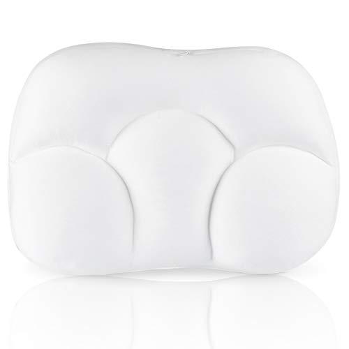 Schlafkissen, Allround-Wolkenkissen, Stillkissen Weiß, 3D Schlafkissen, Weiß Eiförmige Kissen für Seitenschläfer, Nackenschmerzlinderung