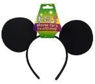 NEW BLACK FELT MICKEY MOUSE EARS ON HEAD BAND