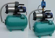 Huiswaterpomp 50 l 1,3 kW m. drukschakelaar of pompstoring droogloopbeveiliging 50l m 1300 Inox m Druckschalter groen