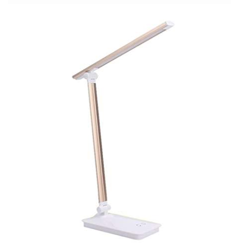 Multifunción LED Multifuncional Plegable lámpara de Escritorio Ojo-protegida de Larga duración Regulable Lámpara de Mesa de luz LED de 3-Nivel Brillo de 5 Niveles de Color Fácil de Cargar
