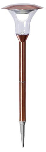 Tecstar Star Décoration de Jardin, LED Solaire Pathlight, Acier Inoxydable, Argent, 18 x 18 x 51 CM, 479–82